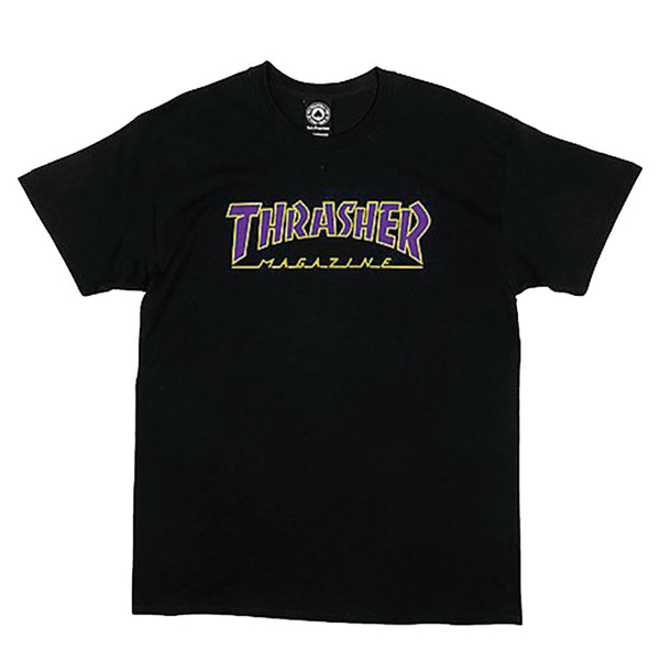 Camisa - Thrasher Outlined Black and Purple