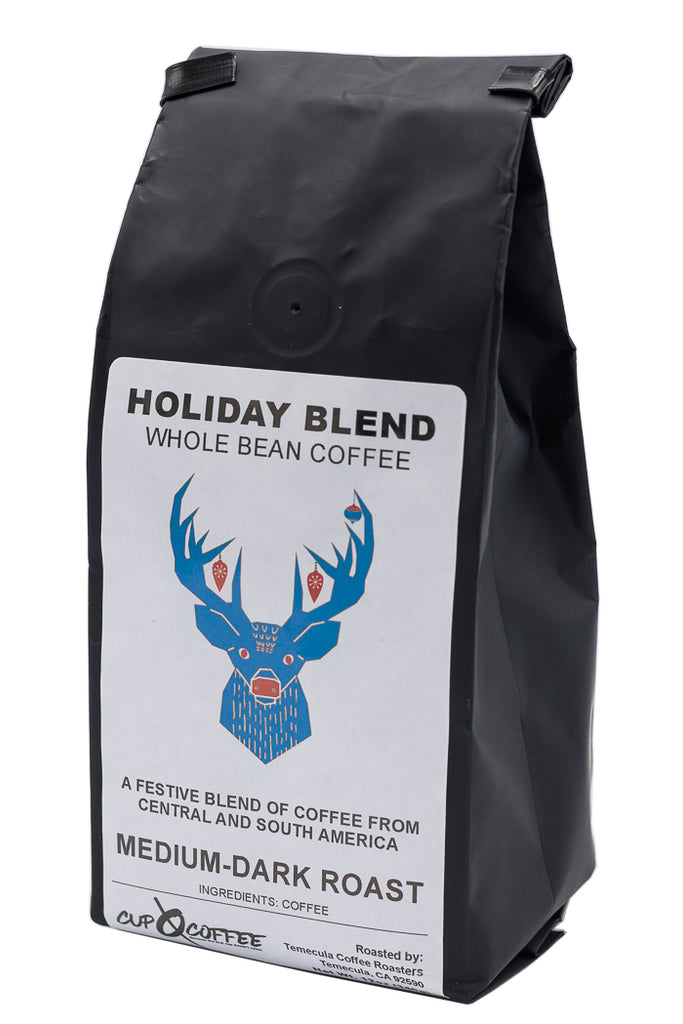 CHRIS-WHOLE-12OZ-BLACK Cup Zero Coffee Holiday Blend Coffee Medium Dark Roast Whole Bean 12oz coffee available in Federal Way, WA.