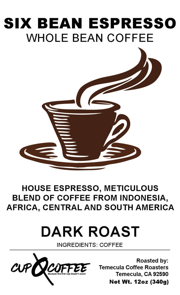 Six Bean Espresso - Dark Roast Coffee
