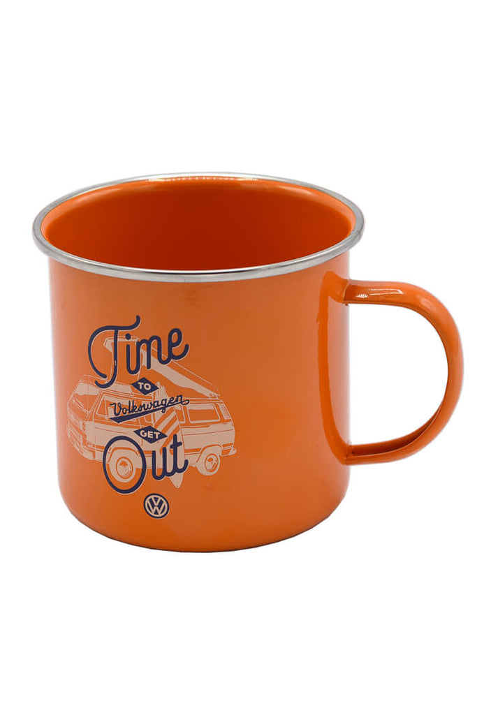 VW, Volkswagen Time to Get Out #vanlife camp coffee mug