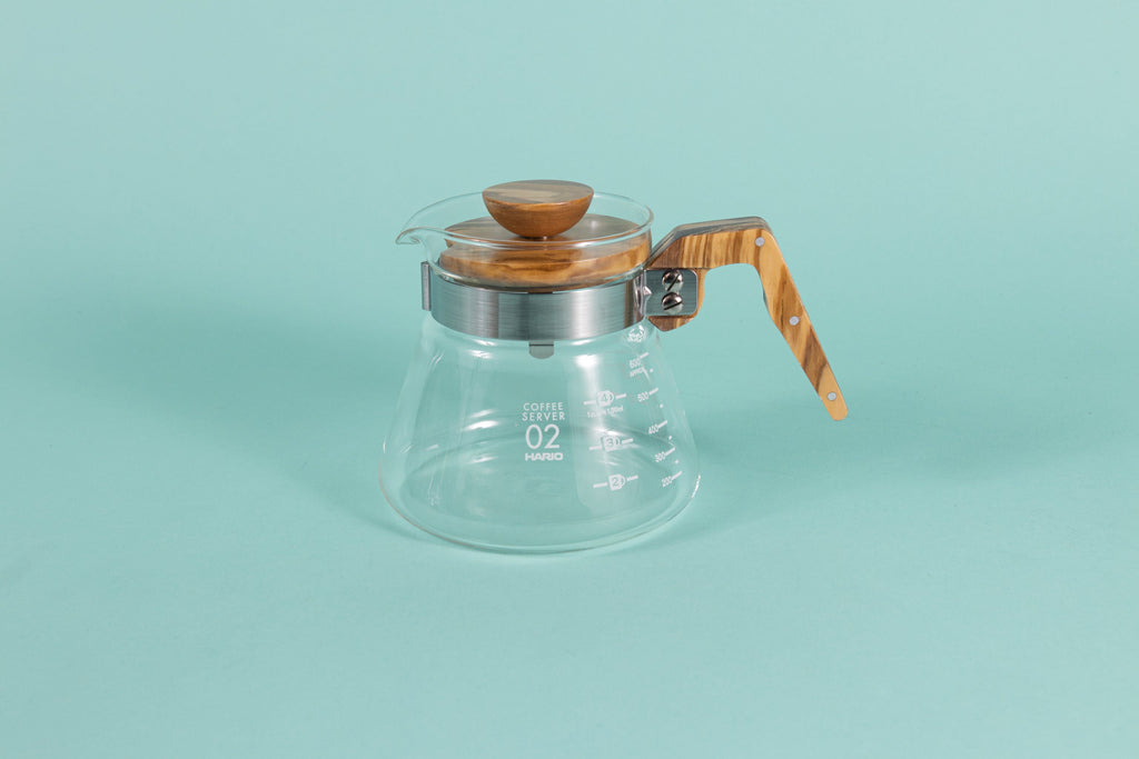 HARIO V60 Coffee Server, 600ml Olive Wood