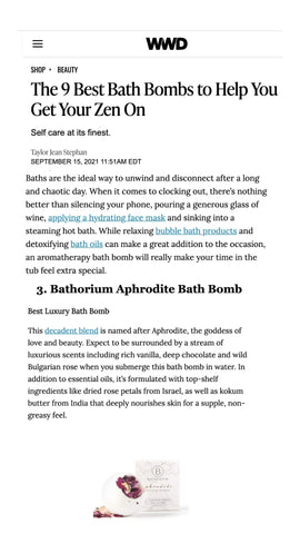 Aphrodite is the Best luxury Bath Bomb to Help You Get Your Zen On