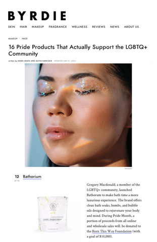 Byrdie Article about LGBTQ+ Founded Brands