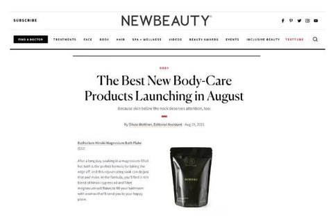 Hinoki The Best New Body-Care Products Launching in August