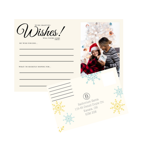 Holiday wishes postcard