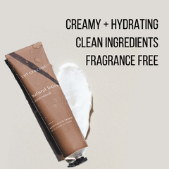 Hydrating lotion with clean ingredients + fragrance free!