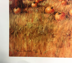 Autumn Harvest, limited edition Artist Paul Landry