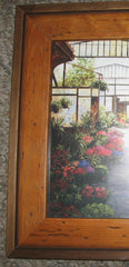 CUSTOM FRAMED SET OF THREE PRINTS OF PARIS FLOWER MARKET, LES HALLES
