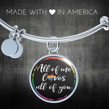 LGBT All of Me w/Border Handmade Bangle or Necklace