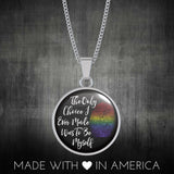 LGBT - Be Myself Handmade Bangle or Necklace Bangle Gifts for Her Bracelet Charm