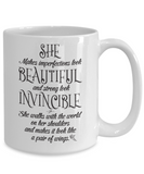 She: Beautiful And Invincible Mug - BadAss Shirt Company - 4