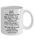She: Beautiful And Invincible Mug - BadAss Shirt Company - 2