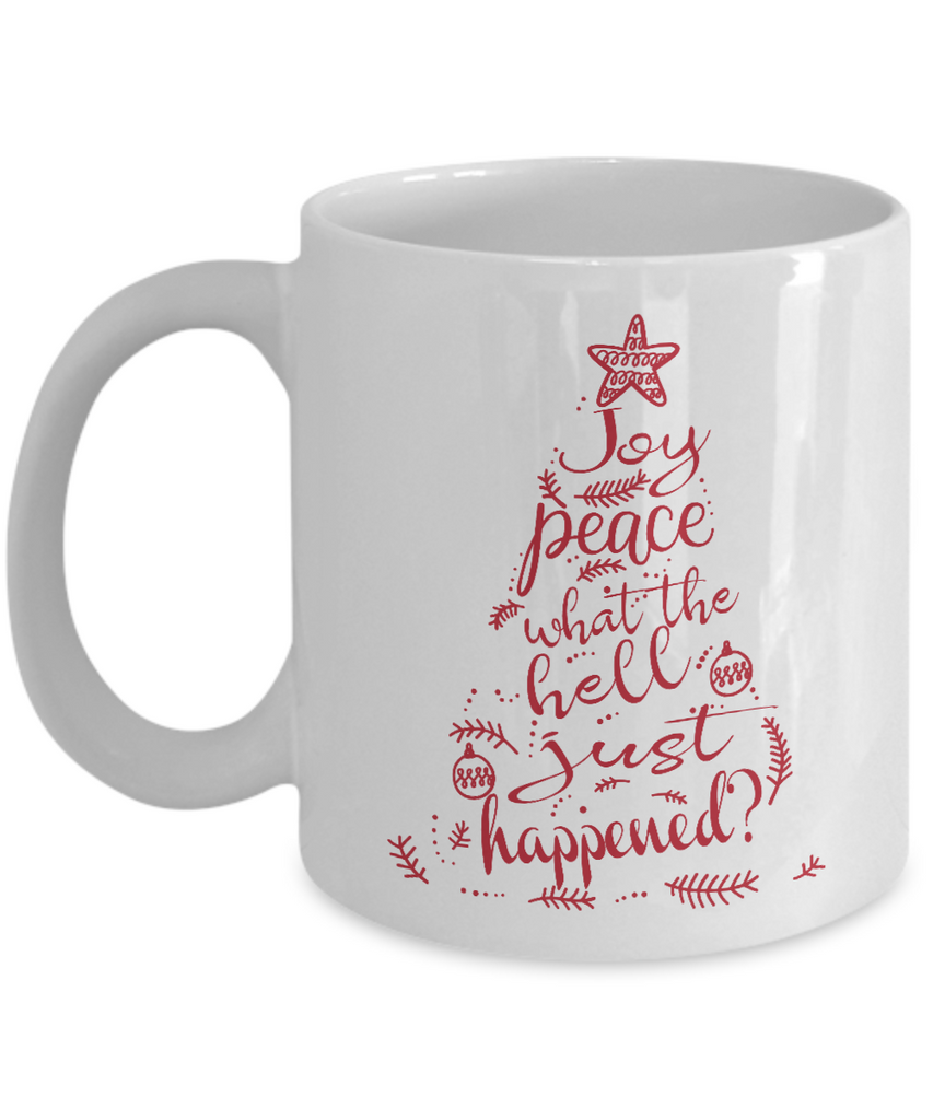 Joy Peace WTH Just Happened? Coffee Mug