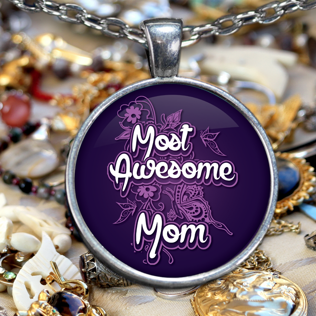 Most Awesome Mom Necklace