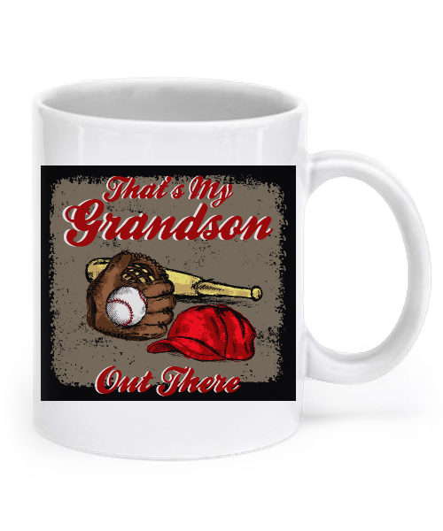 Baseball - That's My Grandson Out There Mug