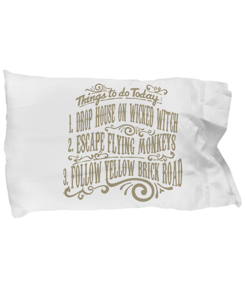 WOZ - Things To Do Today II Pillow Case