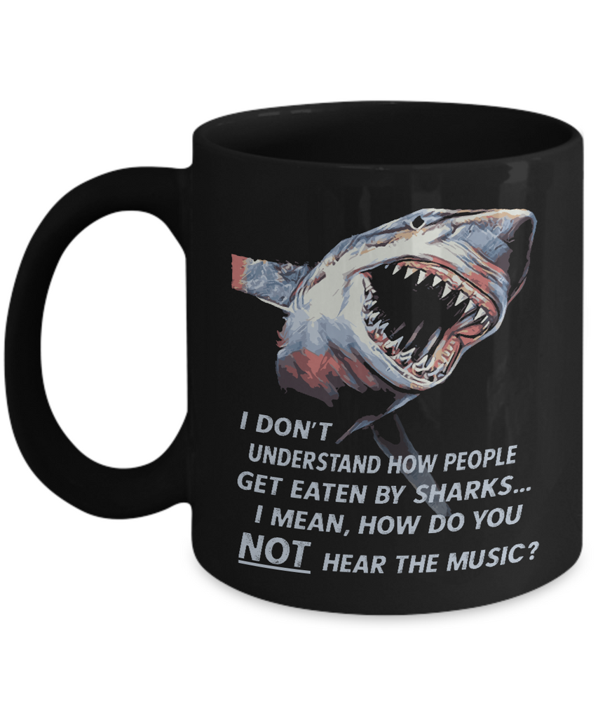 Great White Shark Showing Its Sharks Teeth Mug