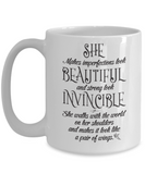 She: Beautiful And Invincible Mug - BadAss Shirt Company - 3