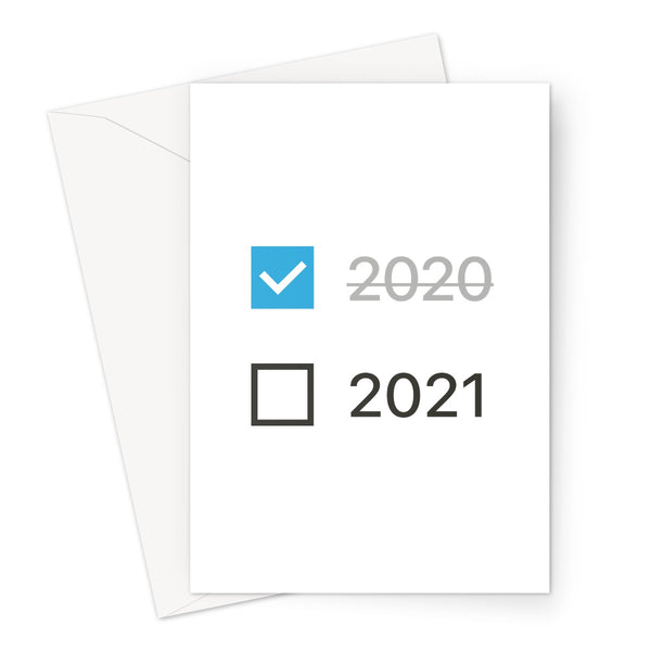 2020-21 Checkbox Block Greeting Card