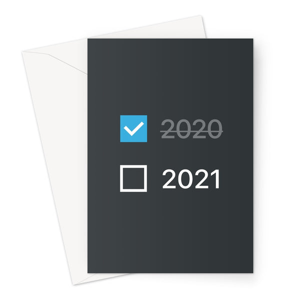 2020-21 Checkbox Block Greeting Card (Dark Mode)