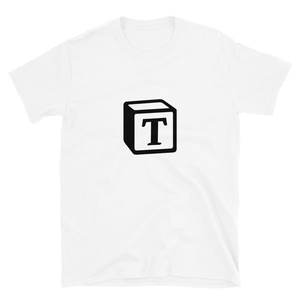 'T' Block Monogram Short-Sleeve Unisex T-Shirt