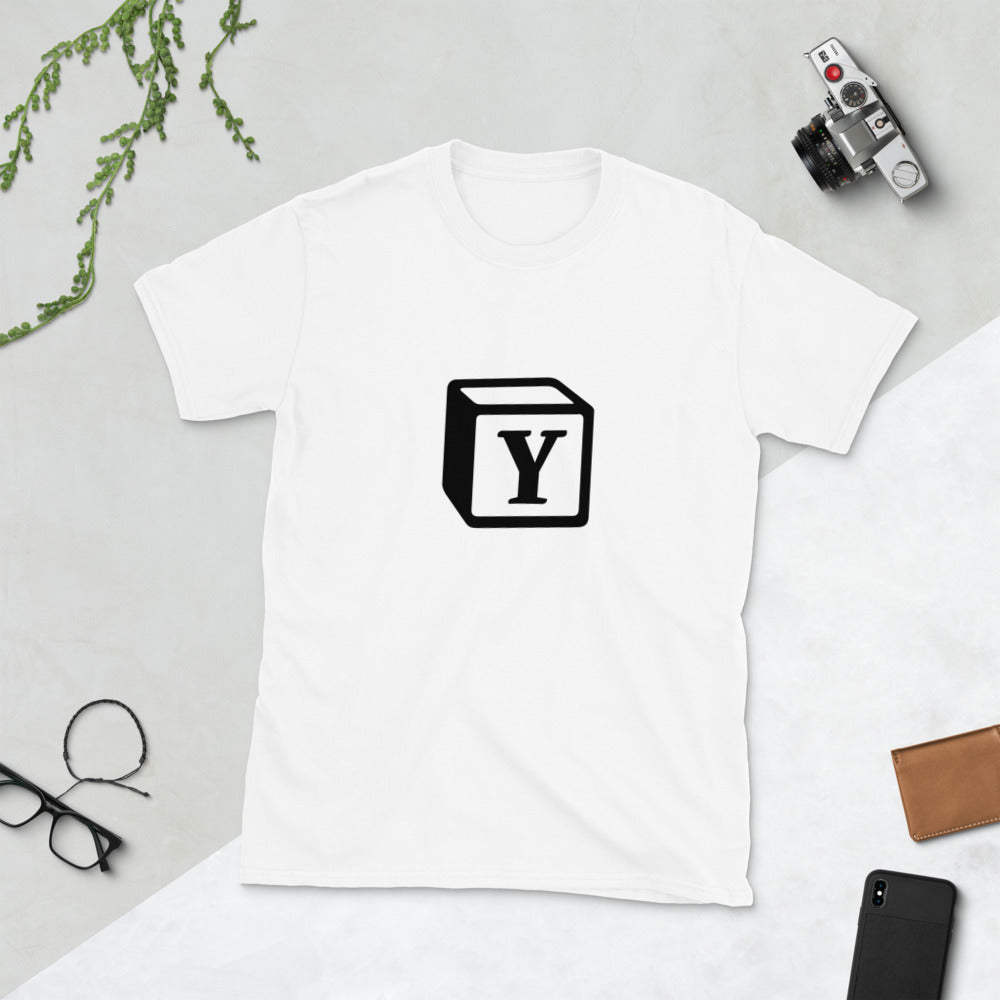 'Y' Block Monogram Short-Sleeve Unisex T-Shirt