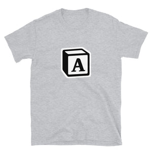 'A' Block Monogram Short-Sleeve Unisex T-Shirt
