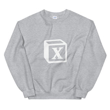 Load image into Gallery viewer, 'X' Block Monogram Unisex Sweatshirt