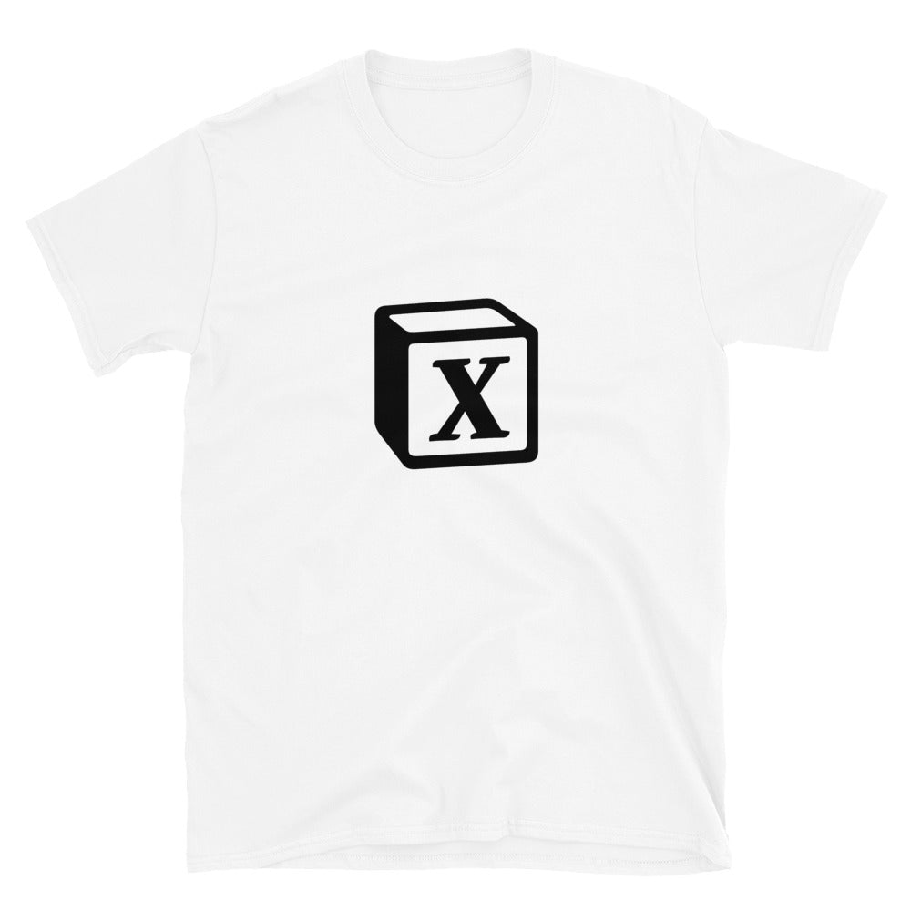 'X' Block Monogram Short-Sleeve Unisex T-Shirt
