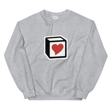 Load image into Gallery viewer, Heart Block Unisex Sweatshirt - Red Heart