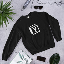 Load image into Gallery viewer, 'Y' Block Monogram Unisex Sweatshirt