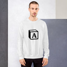 Load image into Gallery viewer, 'A' Block Monogram Unisex Sweatshirt