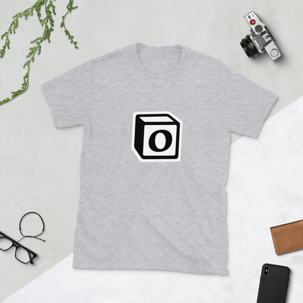 'O' Block Monogram Short-Sleeve Unisex T-Shirt