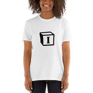 'I' Block Monogram Short-Sleeve Unisex T-Shirt