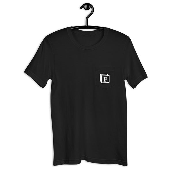 'F' Block Pocket Monogram Short-Sleeve Unisex T-Shirt
