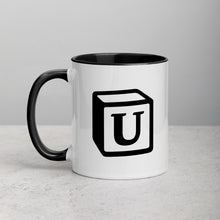 Load image into Gallery viewer, 'U' Block Monogram Mug