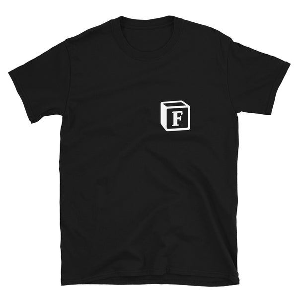 'F' Block Monogram Short-Sleeve Unisex T-Shirt