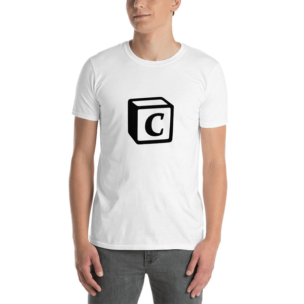 'C' Block Monogram Short-Sleeve Unisex T-Shirt