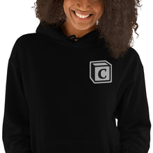 Load image into Gallery viewer, 'C' Block Embroidered Monogram Heavy Blend Hoodie, Unisex