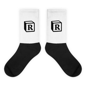'R' Block Monogram Socks