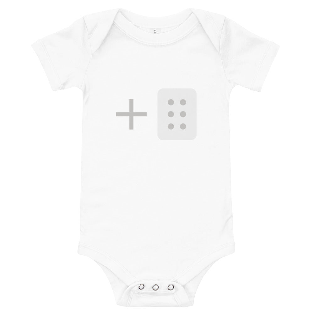 Add/Drag Block Short-Sleeve Infant Bodysuit