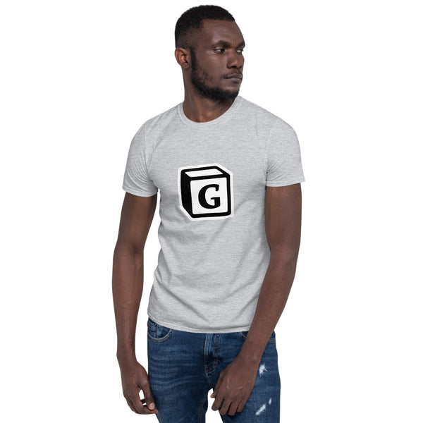 'G' Block Monogram Short-Sleeve Unisex T-Shirt