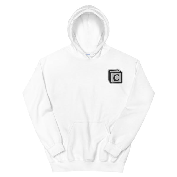'C' Block Embroidered Monogram Heavy Blend Hoodie, Unisex