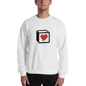 Heart Block Unisex Sweatshirt - Red Heart