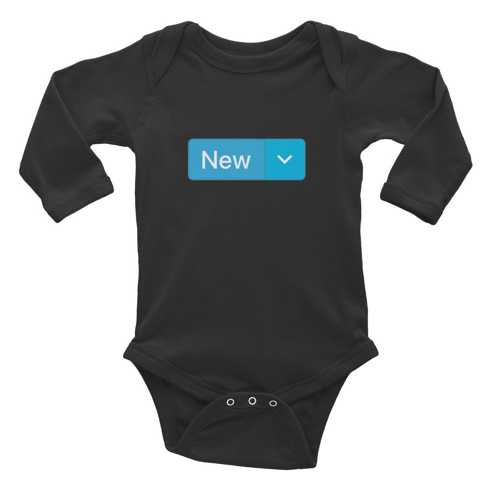 'New' Long-Sleeve Infant Bodysuit