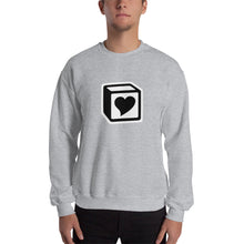 Load image into Gallery viewer, Heart Block Unisex Sweatshirt - Black/White Heart