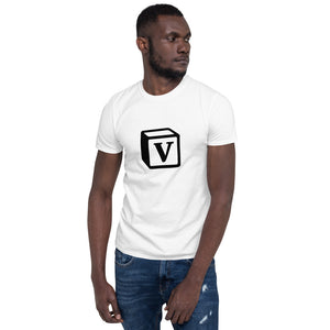 'V' Block Monogram Short-Sleeve Unisex T-Shirt