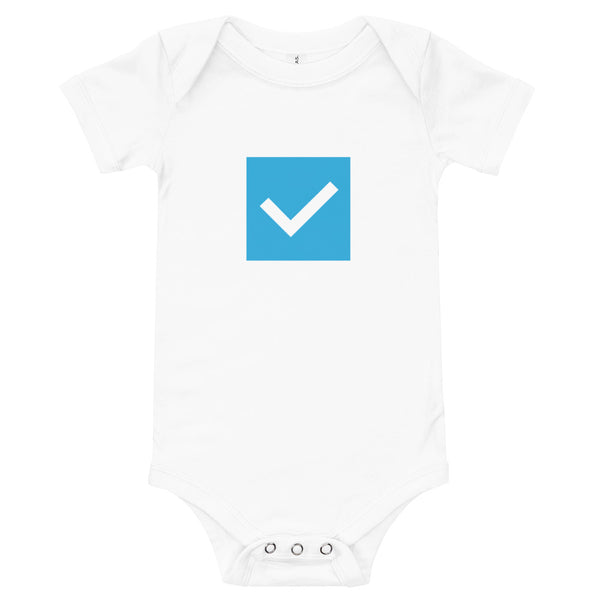 Checkbox (Done) Block Short-Sleeve Infant Bodysuit