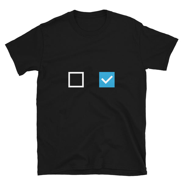 Checkbox (To-do & Done) Block T-Shirt