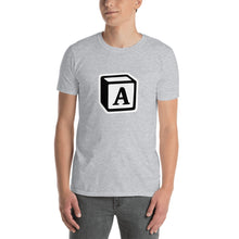 Load image into Gallery viewer, 'A' Block Monogram Short-Sleeve Unisex T-Shirt